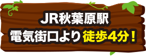 JR秋葉原駅電気街口より徒歩4分